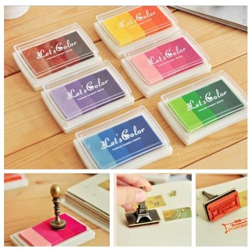 New multi color ink pad set rubber wood stamp deco invitation card new multi color ink pad set rubber wood stamp deco invitation card greeting card finger sign m4hsunfo
