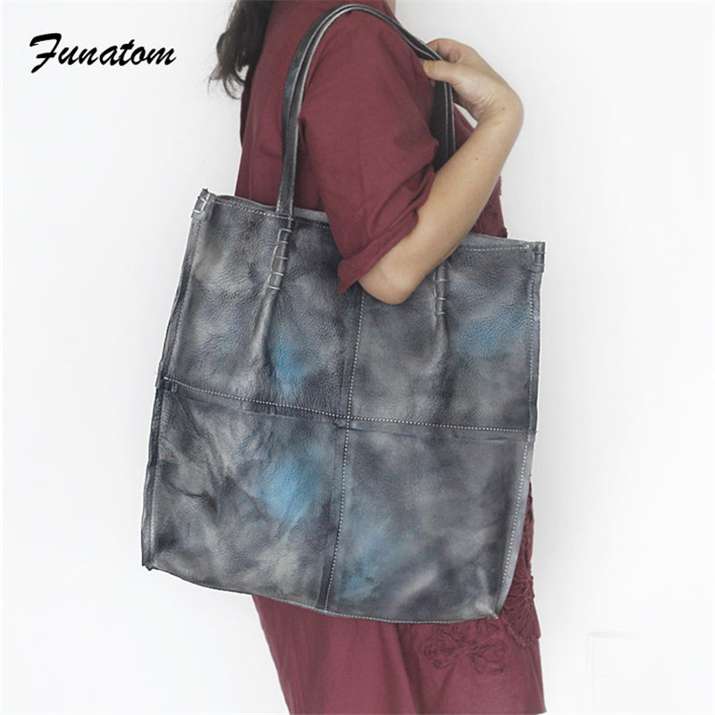 New 2018 Genuine Leather Fashion women bag handbag Vintage women messenger bags designer Handbags large capacity Tote Bags