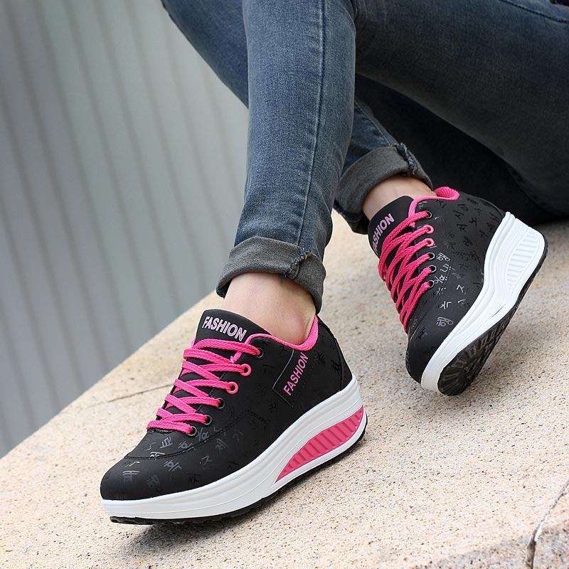 Shoes Flats Women Sneakers Feminino Woma Tenis Lace-Up Casual Soft Pu