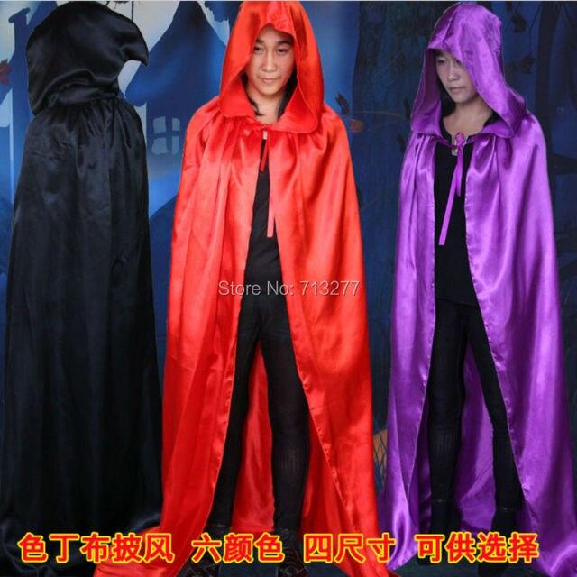 5 Colori S M L XL Wizard Halloween Mantello Con Cappuccio Cappotto Devil 660b0c17fec