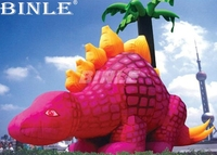 Hot sale outdoor promotion pink 8m giant inflatable dinosaur for display