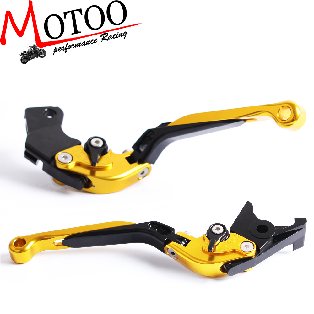 Motoo - F-14 S-650 Adjustable CNC 3D Extendable Folding Brake Clutch Levers For Suzuki SV650/S RF 600R GSF 600F GSXR 750R  650F adjustable cnc 3d folding brake clutch levers for suzuki sv650 sv650s 1999 2010