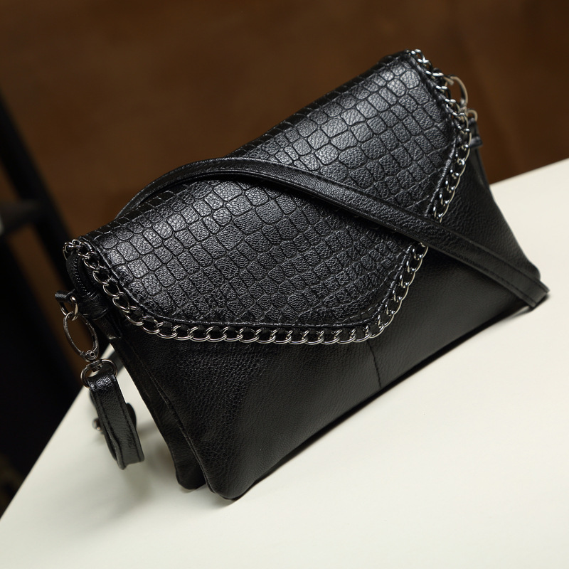 Women Shoulder Bags Brand Designer Crossbody Wristlet Clutch Hand Bag Leather Pu Crocodile Black Envelope Clutches In From Luggage