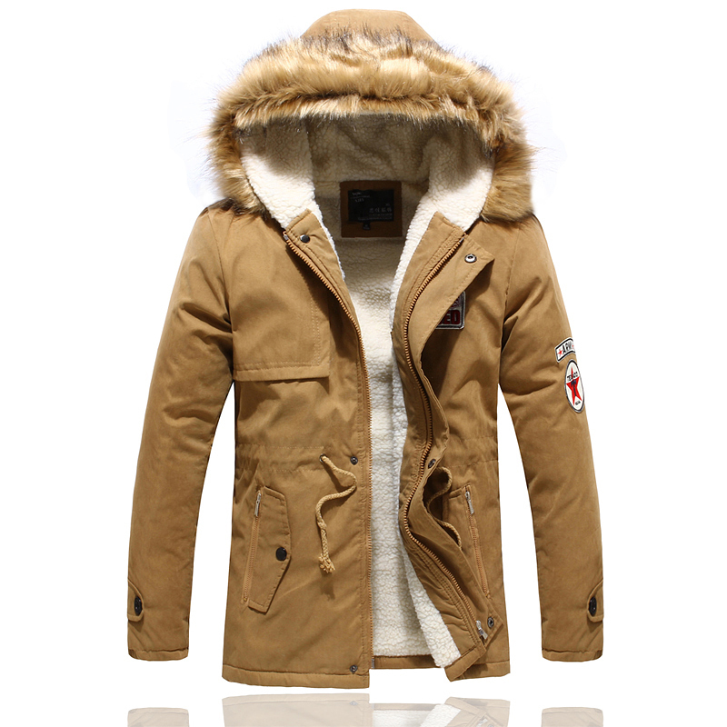 Cotton-padded jacket casual mens clothing outerwear male overcoat wadded jacket & Parkas winter coat men warm ...