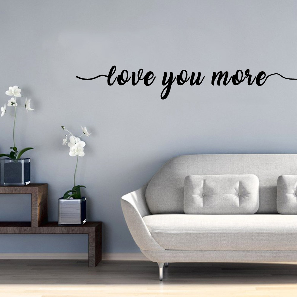 3D love you more Waterproof Wall Stickers Art Decor Pvc Decals Bedroom Nursery Decoration