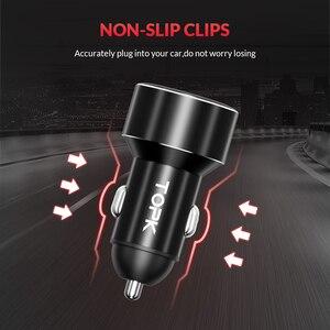 Image 4 - TOPK G209 caricabatteria da auto doppio USB con Display digitale per iPhone Xs Max caricabatteria da auto per monitoraggio della tensione Samsung Xiaomi 3.1A per telefono