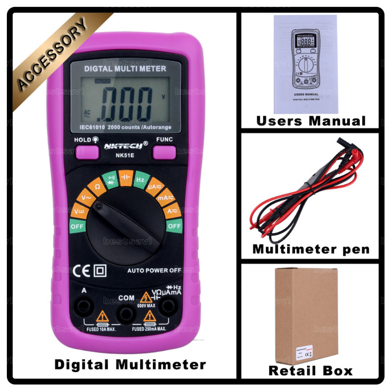 NOVÝ Multimetr NK51E VS MS8233D s kapacitním a frekvenčním - Měřicí přístroje - Fotografie 6