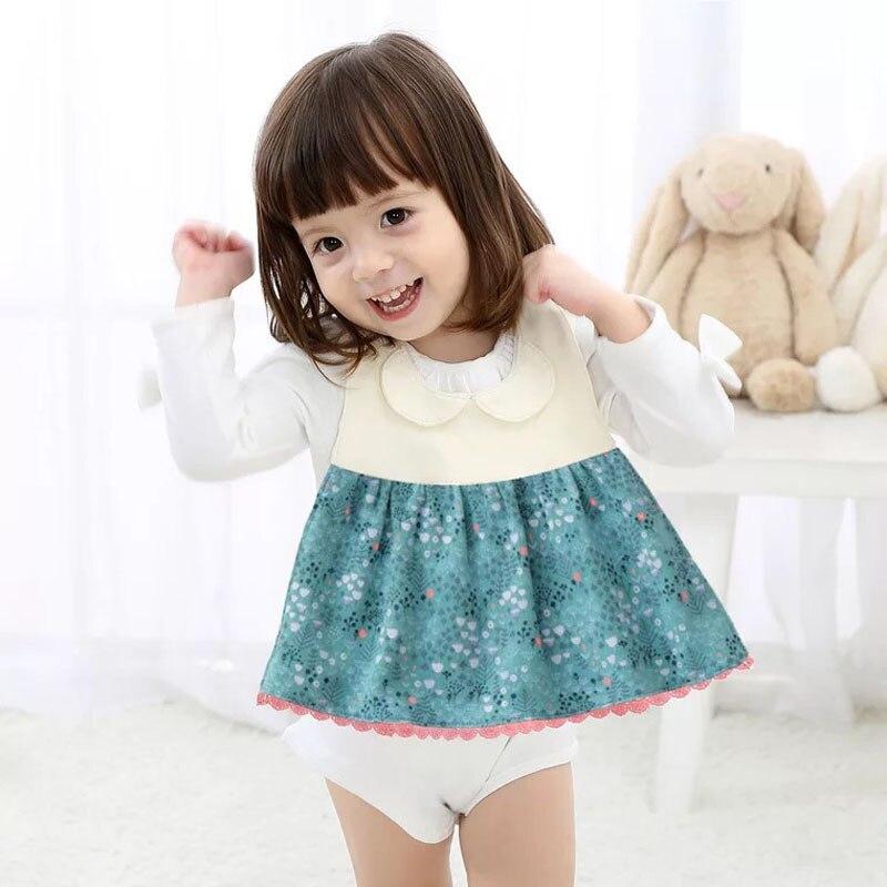 Menina Bebê Bib Bibs Avental Couraça Bavoir Babador de Algodão À Prova D' Água Floral impressão roupas Infantis 0-36 meses roupa do bebê