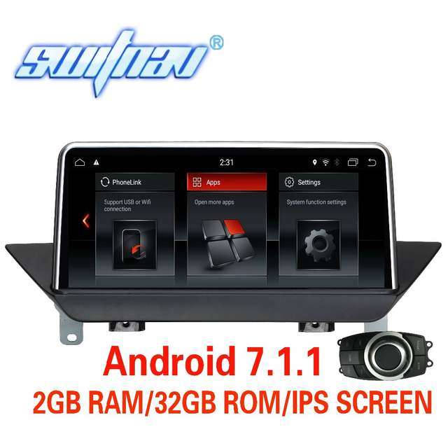 Android 7 1 1 CAR DVD FOR BMW X1 E84 supply with iDrive without original  screen player stereo monitor ips screen audio