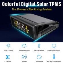 Junsun TPMS Tire Pressure Monitoring System Plastic Case of Car Alarm logicar With 4 Sensors Tire Pressure Indicator Cap