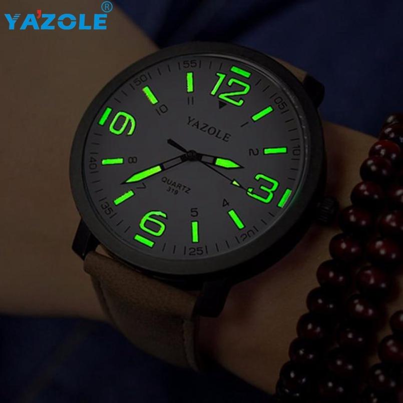 YAZOLE Wrist Watch Men Top Luxury Famous Wristwatch Male Clock Quartz Watch Hodinky Quartz Watch Relogio Masculino #A66