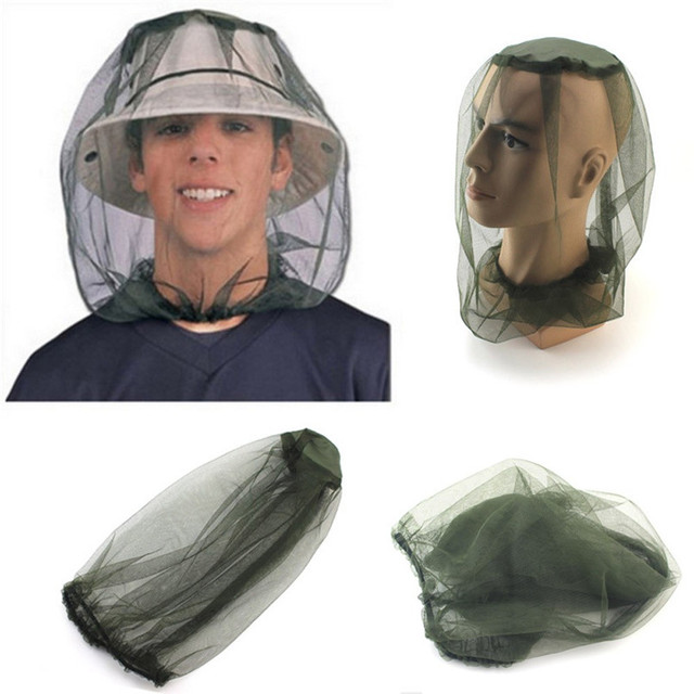 Mosquito Head Net Mesh Face Protector Cap Insect Bee Sun Fish Hat Fishing  Clothings accessories outdoor hiking camping 2017 c7ea217f0abc