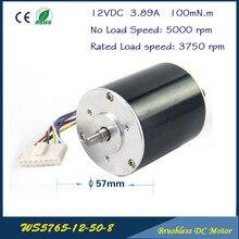 5000 об./мин. 52 Вт 12 В 3.89A 57 мм * 65 мм 3 фазы зал бесщеточный постоянного тока микро-мотор высокая производительность DC двигатель для вентилятора воздушный насос коробка передач