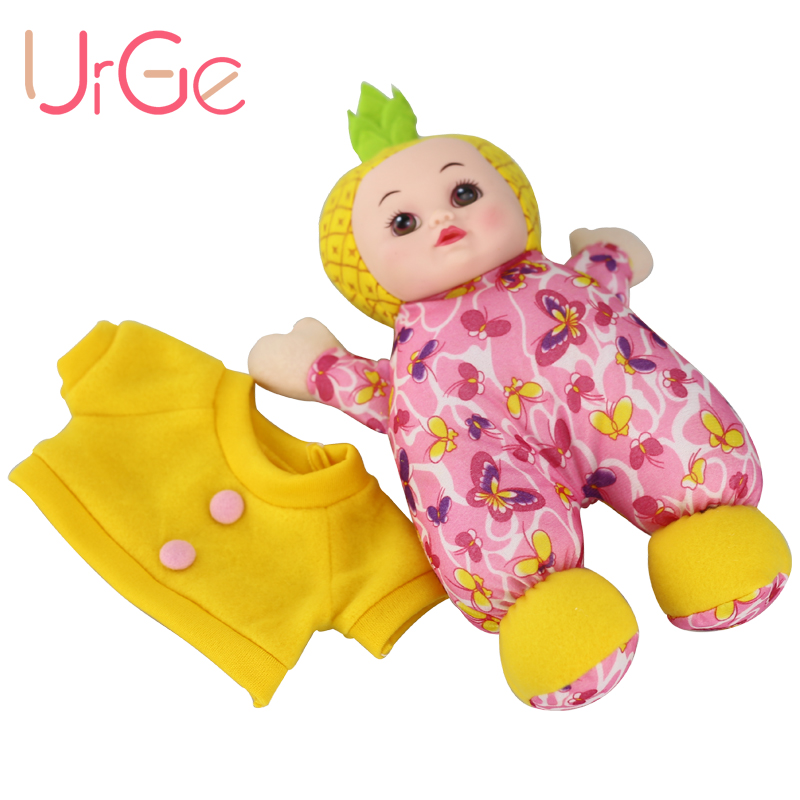 Նոր 30CM Kawaii Փոքր արքայախնձոր տիկնիկ Plush Stuffed Toy փափուկ տիկնիկներ Մանկական Խաղալիքներ Երեխաներ Նվեր վերածնված մանկական տիկնիկներ վաճառքի համար URGE