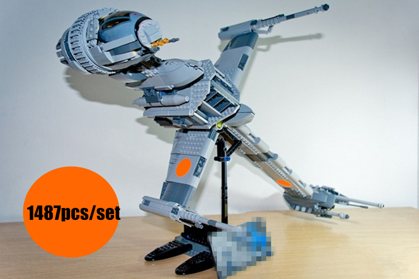 New Star plan fighter The B-wing Starfighter fit legoings Star Wars figures Building Blocks Bricks diy Toys 10227 kid gift set