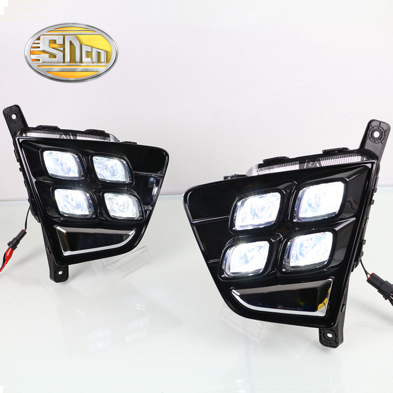 Для Хендай Крета IX25 2014 2015,супер Яркость Водонепроницаемый Подключи и играй автомобиля DRL 12V светодиодные дневные ходовые свет дневного света SNCN