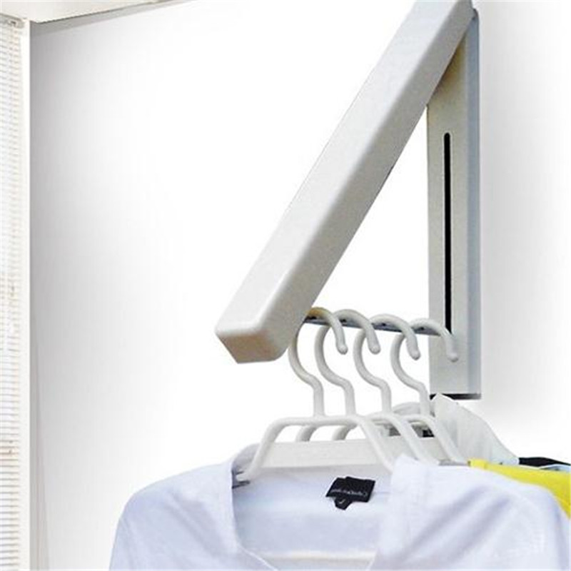 Stainless folding wall hanger mount retractable waterproof for Retractable wall for home