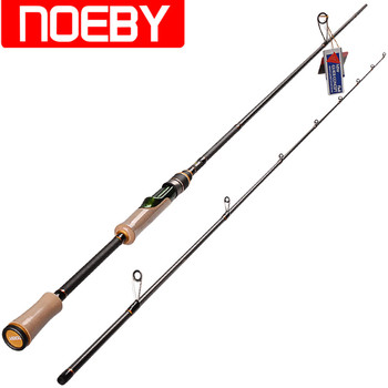 NOEBY 2.13m 2.44m ML M Casting Spinning Fishing Rod FUJI Guides Rings And FUJI Reel Seat Canne A Peche Carbon Fiber Fishing Rod