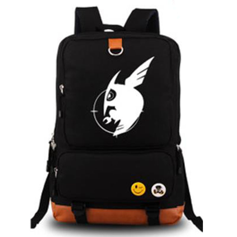 New 2016 Fashion Mens Luminous Backpack Akame ga KILL Canvas Backpacks Shoulder School Bag Travel Bags Daypack Mochila