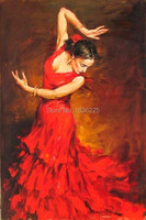 handmade oil painting sexy flamenco dancer oil painting sex images painting dancing girl sexy pictures for decors bedroom