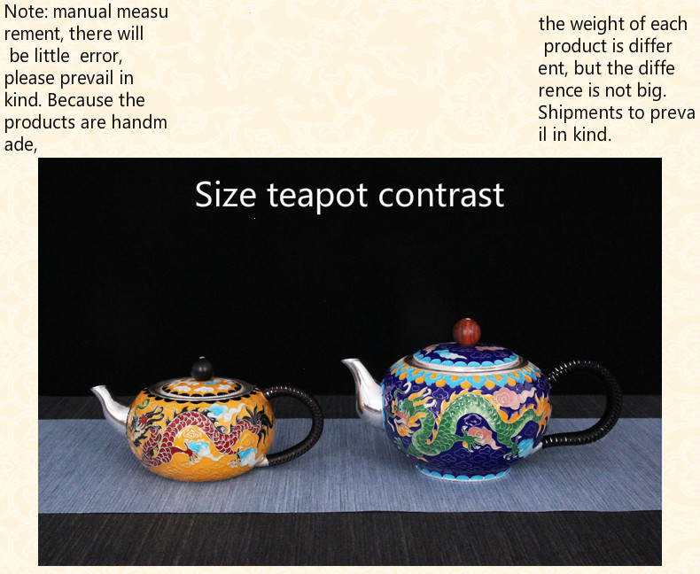 Pure silver exquisi teteapot kettles tea cup  chinese kung fu tea set drinkware 3