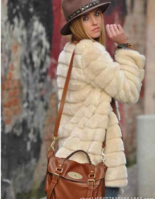 暖かい毛皮の暖かい暖かい長袖女性の上着秋冬コートジャケット毛深い襟オーバーコートプラスサイズ T69