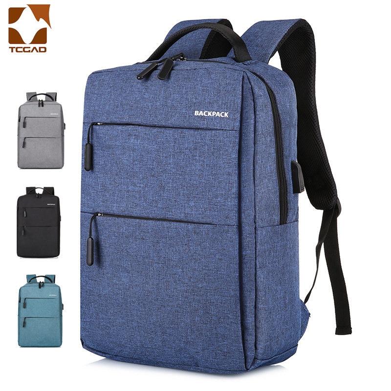 17 Inch Backpack Plecak Backpack USB Mochila 17
