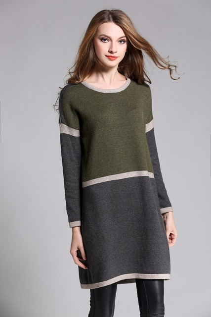 Women Winter Dresses plus size 2017autumn Warm Sweater Dress Long ...
