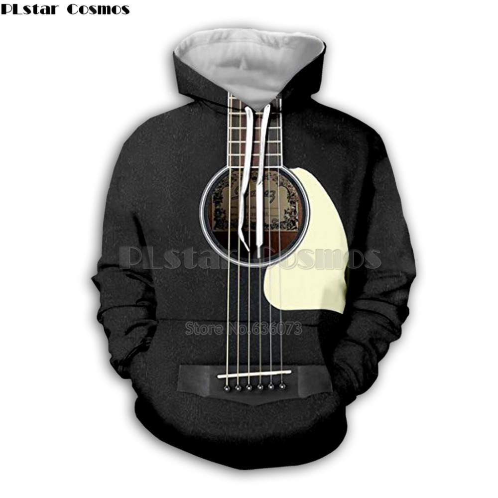 Guitar Art Musical Instrument 3D Print Long Sleeve Fashion Hoodie Hip Hop Tee Style Hooded Streetwear Casual Zipper Tops Style5