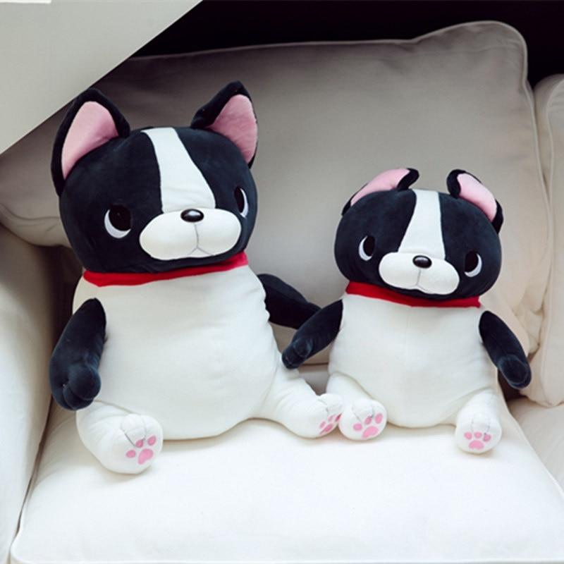 1pc 45cm/55cm Cute French Bulldog Plush Animals Stuffed Down Cotton Plush Dog Toys Birthday Gifts Kids Girls Toys