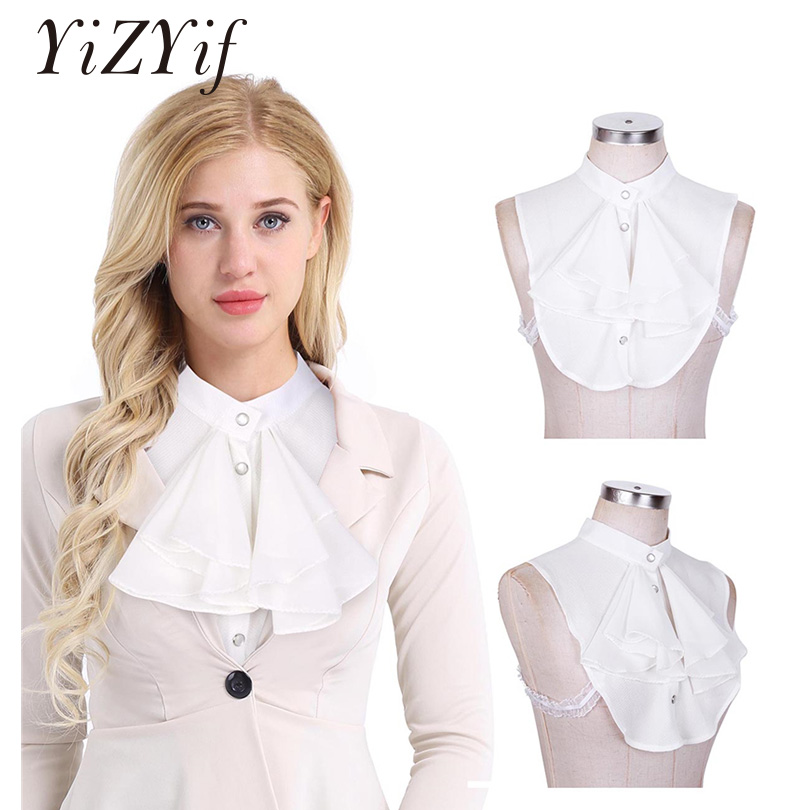 YiZYiF Womens Fake Collar Half Top Collar Detachable Fake False Decorative Shirt Collar Office Lady Dickey Clothing Accessories