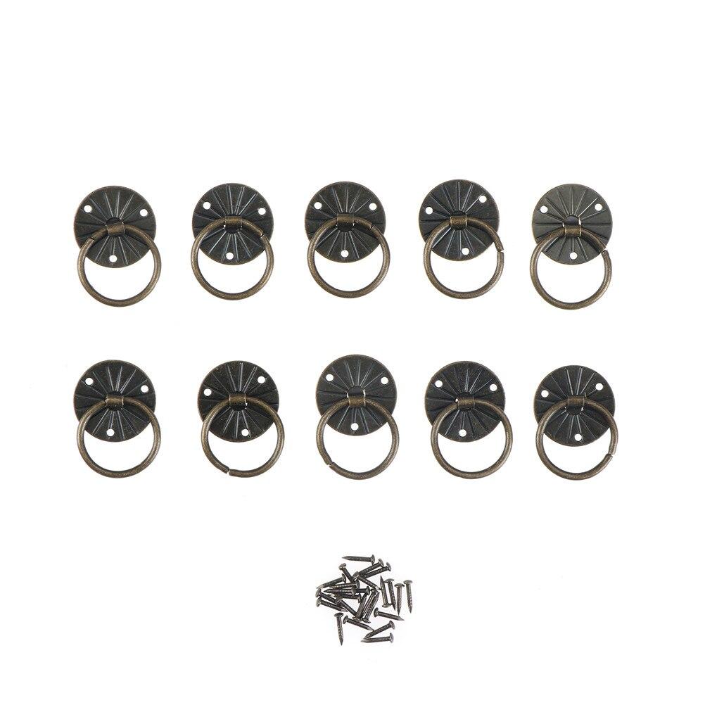 10pcs Antique Brass Decorative Mini Jewelry Chest Box