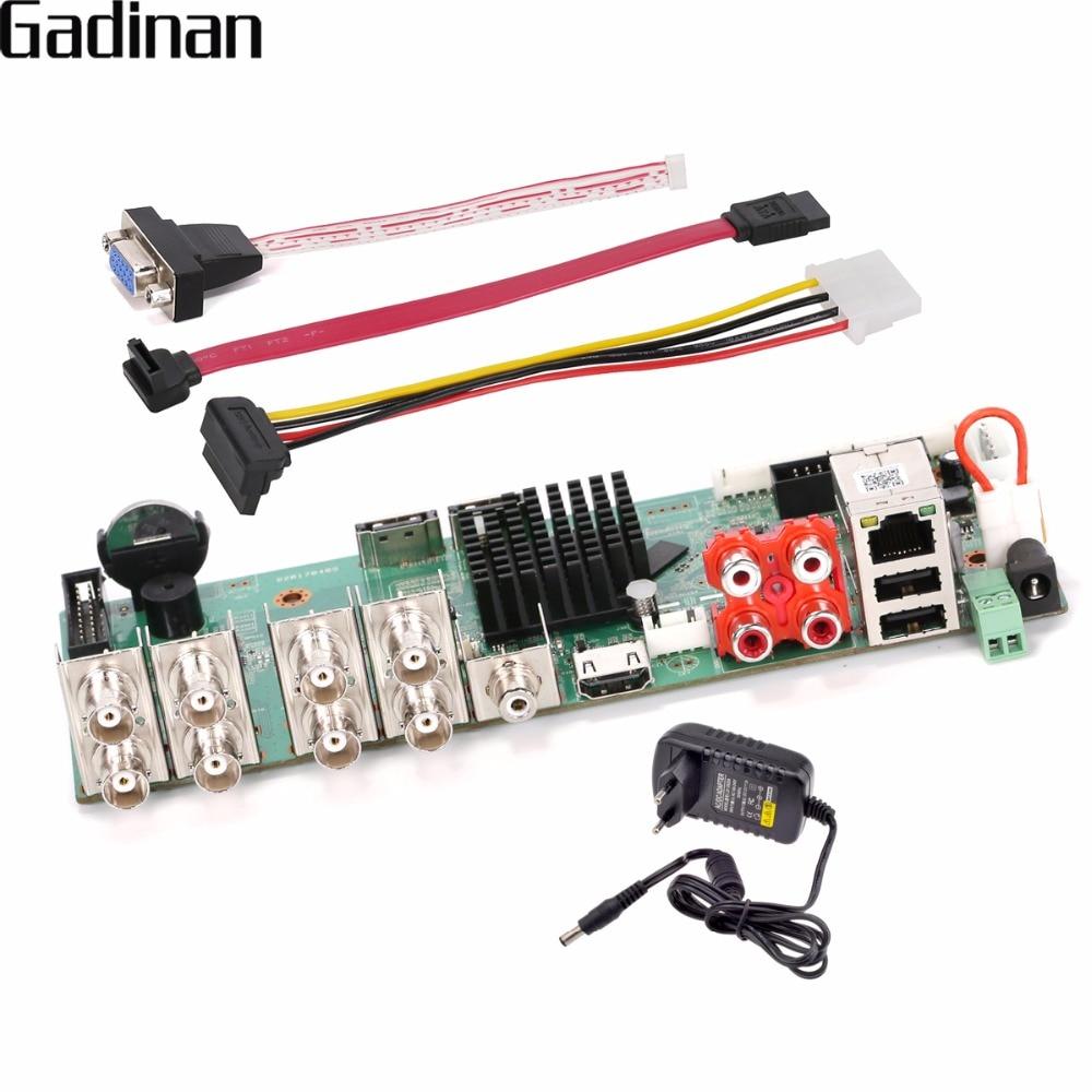 GADINAN CCTV H.264 8 Channel AHD/CVI/CVI 1080P/ Hybrid 4CH Analog 1080P +4CH IP 1080P 5 in 1 NVR DVR DIY BORAD with Adapter gadinan 8ch ahdnh 1080n dvr analog ip ahd tvi cvi 5 in 1 dvr 4ch analog 1080p support 8 channel ahd 1080n 4ch 1080p playback
