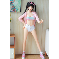Lovely 140cm 4ft 7.12in Sex Dolls Standing Feet tpe Silicone Love Doll with Oral Sex for Adult Toys