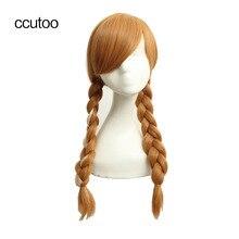 Ccutoo 65 см бежевый Блондин Коричневый кос длинные прямые синтетические волосы Косплей Полный парики для женщин Halloween Party