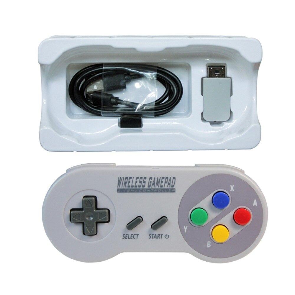 MASiKEN 2.4GHZ Wireless Controller Gaming Joystick Joypad Gamepad for NES (SNES)Super Nintendo Classic MINI Game Accessories цена