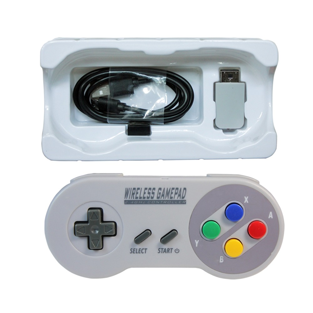 MASiKEN 2.4GHZ Wireless Controller Gaming Joystick Joypad Gamepad for NES (SNES)Super Nintendo Classic MINI Game Accessories image