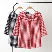 117d25881e1c08 2019 Plus Size Casual Blouses Spring Women Clothing Fashion Loose Long  Sleeve Peter Pan collar Shirts