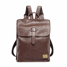 Caja de tres Nuevos hombres mochilas de cuero de la vendimia mochila estudiante bolsa de viaje ocasional 14 pulgadas laptop backpack school bolsas chicas LI-1596