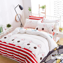 Home Textile Bedding Duvet Cover Set Printing Simple Personality Pattern Cotton Series Three/Four-Piece Duvet Cover 5 Size(China)