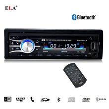 2016 Nueva 12 V Car CD Reproductor de DVD Estéreo FM de Radio MP3 de Audio jugador de Apoyo Bluetooth Teléfono con USB/SD MMC Puerto En El Tablero 1 DIN 2100
