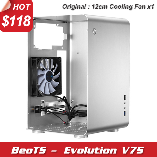 Hot mini ITX M-ATX HTPC case desktop computer case all aluminum ultra-quiet High-end with 12cm cooling fan computer case