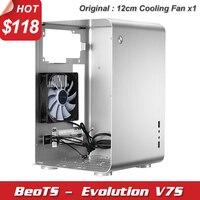 Hot mini ITX M ATX HTPC case desktop computer case all aluminum ultra quiet High end with 12cm cooling fan