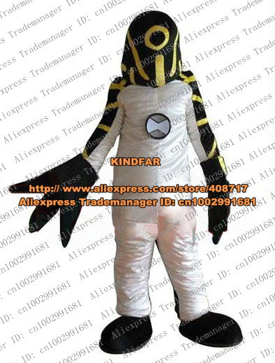 Pretty Upgrade Ben 10 Intelligent Beings Saucer Man Alien Extraterrestrial Mascot Costume With Black Claws No
