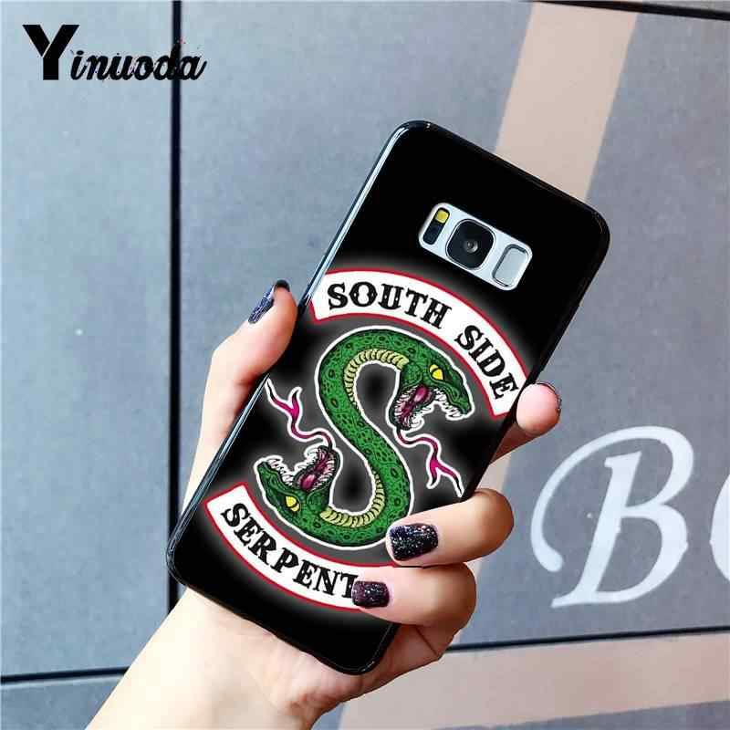 Yinuoda Riverdale South Side Serpents Newly Arrived Black Phone Case for Samsung Galaxy S9 plus S7 edge S6 edge plus S10 S8