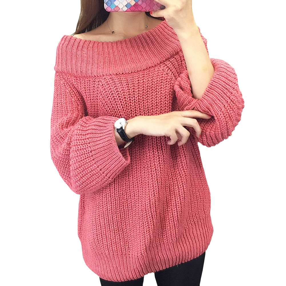 Winter Knitted Sweater Women 2018 Sring Hollow Out Pullover Sweater Sexy Long Sleeve Off ...