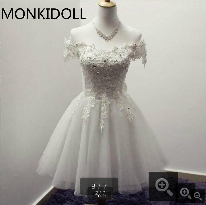 Petite Wedding Gown Designers: 2016 New Design Short A Line Little White Petite Wedding