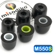 Misodiko M550S Memory Foam Earbuds Ear puntas de orejeras para Jaybird X4 X3 X2, BlueBuds X, Freedom F5/ 1MORE E1001/ Photive PH BTE50