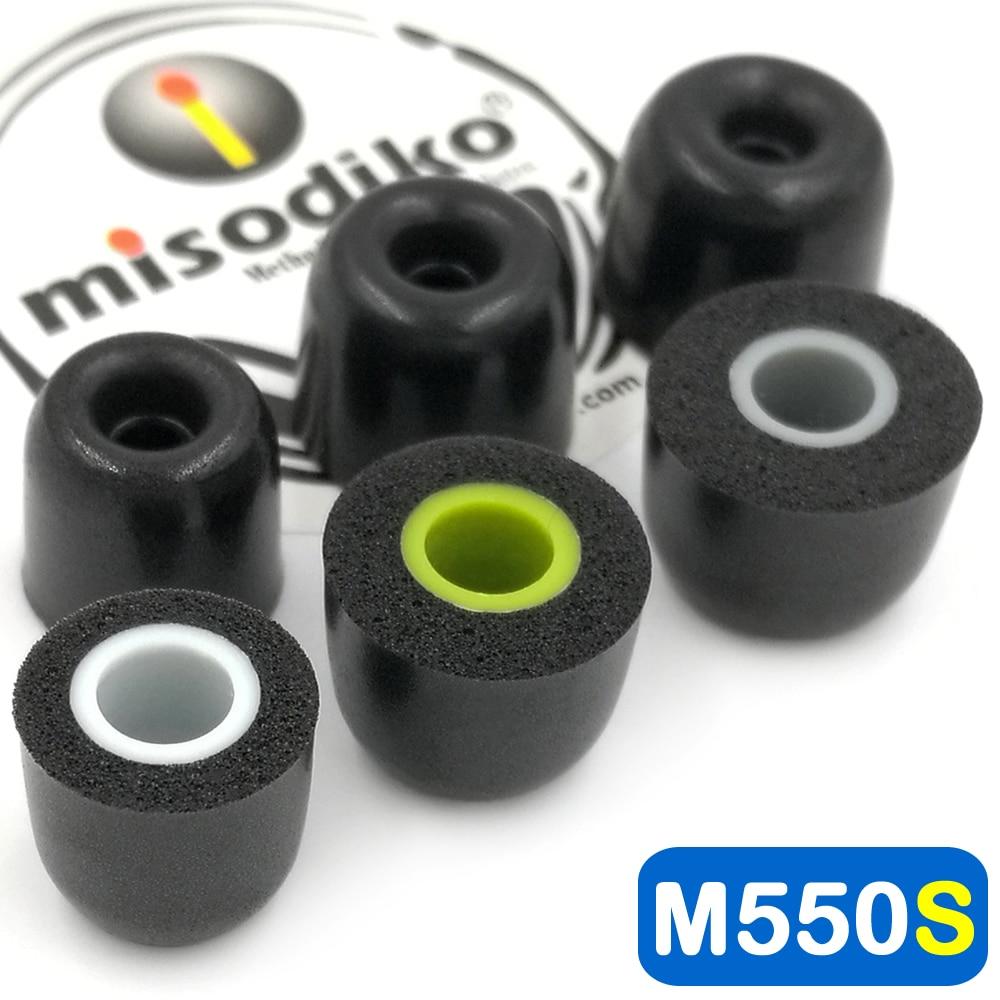 Misodiko m550s memória espuma fones de ouvido orelha dicas para jaybird x4 x3 x2, bluebuds x, liberdade f5/1 mais e1001/fotive PH-BTE50