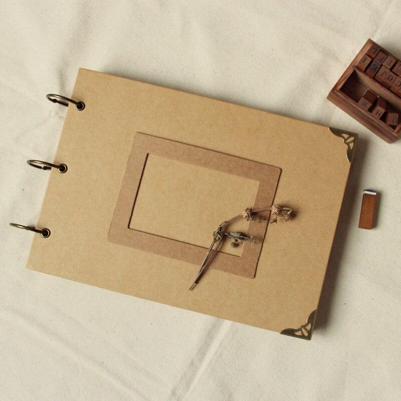 A4 56P Kraft DIY Χειροποίητο παιδικό άλμπουμ - Διακόσμηση σπιτιού - Φωτογραφία 2